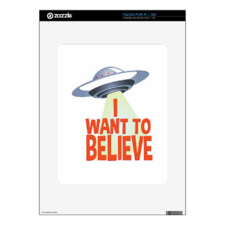 Want To Believe Skins For iPad