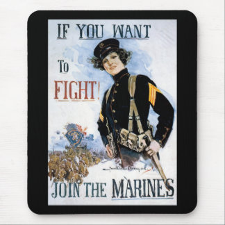 Want To Fight World War 2 Mouse Pad