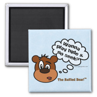 Want to go and play a game with me? 2 inch square magnet