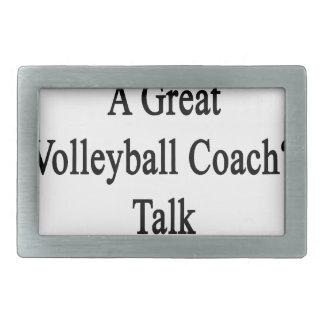 Want To Meet A Great Volleyball Coach Talk To My D Rectangular Belt Buckle