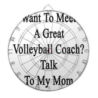 Want To Meet A Great Volleyball Coach Talk To My M Dart Board