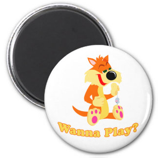 Want To Play? Fridge Magnet