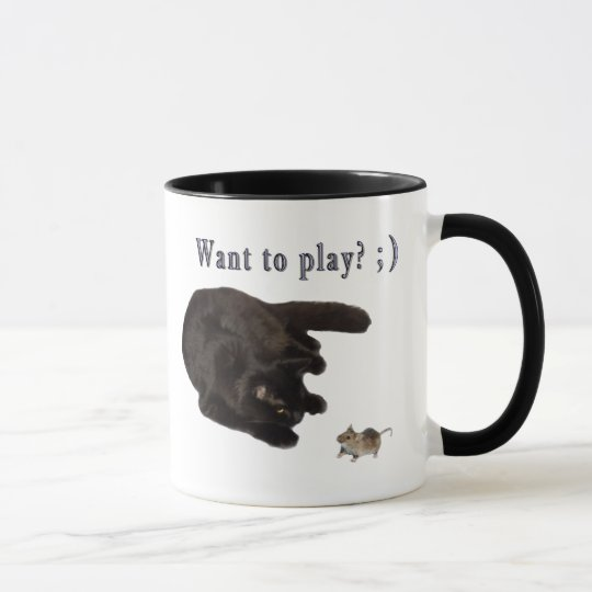 Want to play? mug