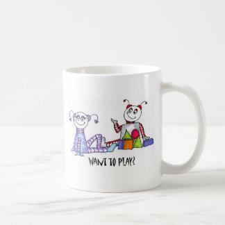 want to play classic white coffee mug