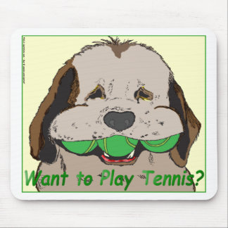 Want to play tennis? mouse pad