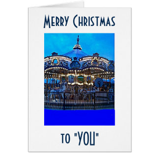 WANT TO RIDE OR MEET ME UNDER THE MISTLETOE! CARD