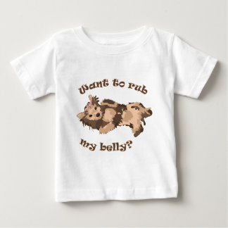 Want to rub my belly cute dog t shirt