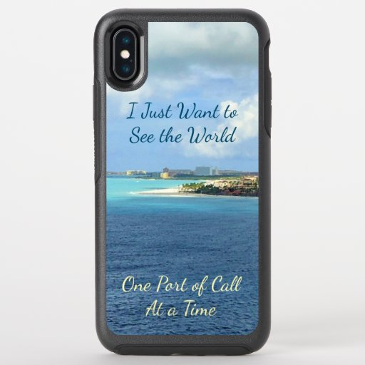 Want to See World Ports Cruising OtterBox Symmetry iPhone XS Max Case