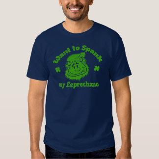 Want to Spank My Leprechaun? Funny Irish T-shirt 3