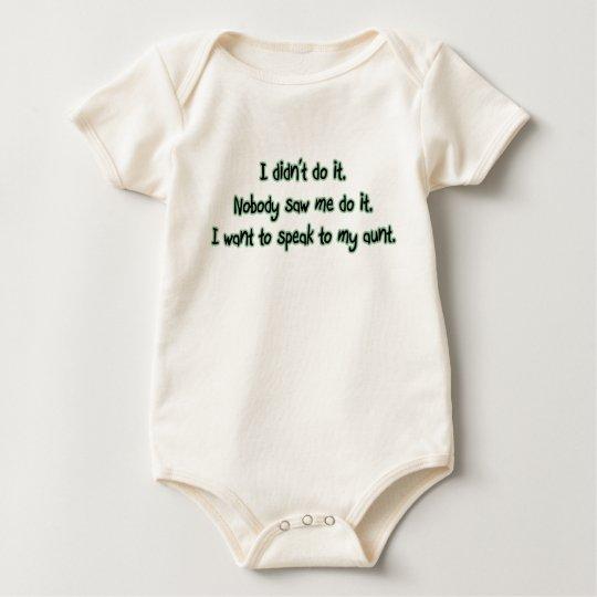 Want to Speak to My Aunt Baby Bodysuit