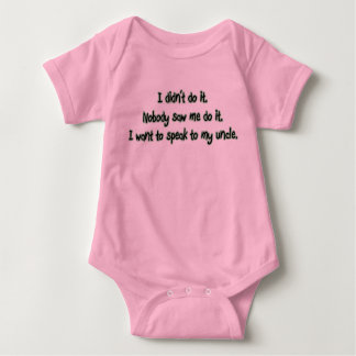 Want to Speak to My Uncle Baby Bodysuit