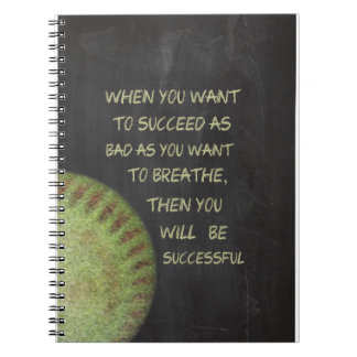 Want To Succeed Fastpitch Softball Motivational Notebook