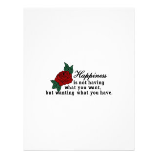 Want What You Have Letterhead