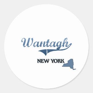 Wantagh New York City Classic Classic Round Sticker