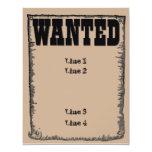 Wanted 11 Cm X 14 Cm Invitation Card