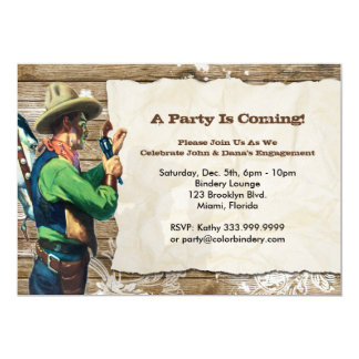 Wanted 7 x 5 inch Event Invitation V2
