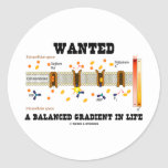 Wanted A Balanced Gradient In Life (Na-K Pump) Stickers