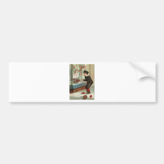Wanted - A Boy To Lick Christmas Candy Cane Bumper Sticker