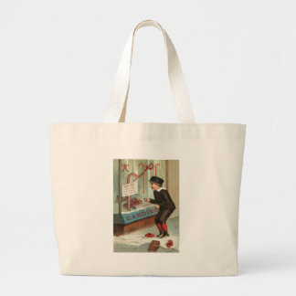 Wanted - A Boy To Lick Christmas Candy Cane Large Tote Bag