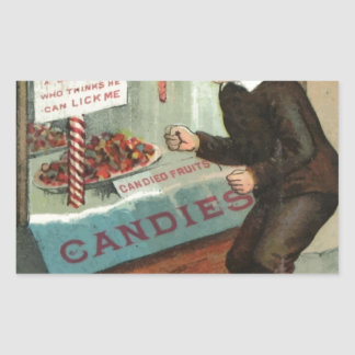 Wanted - A Boy To Lick Christmas Candy Cane Rectangular Sticker