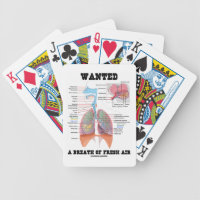Wanted A Breath Of Fresh Air (Respiratory System) Bicycle Playing Cards