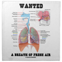 Wanted A Breath Of Fresh Air (Respiratory System) Cloth Napkins
