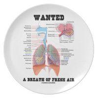 Wanted A Breath Of Fresh Air (Respiratory System) Dinner Plates