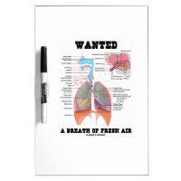 Wanted A Breath Of Fresh Air (Respiratory System) Dry Erase Whiteboards