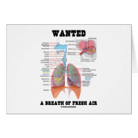 Wanted A Breath Of Fresh Air (Respiratory System) Greeting Card