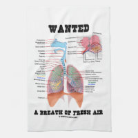 Wanted A Breath Of Fresh Air (Respiratory System) Hand Towel