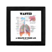 Wanted A Breath Of Fresh Air (Respiratory System) Keepsake Boxes
