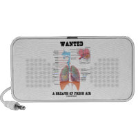 Wanted A Breath Of Fresh Air (Respiratory System) Laptop Speaker