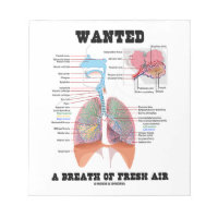 Wanted A Breath Of Fresh Air (Respiratory System) Memo Notepad