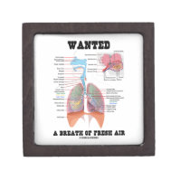 Wanted A Breath Of Fresh Air (Respiratory System) Premium Jewelry Box