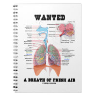 Wanted A Breath Of Fresh Air (Respiratory System) Spiral Note Book