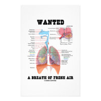 Wanted A Breath Of Fresh Air (Respiratory System) Stationery