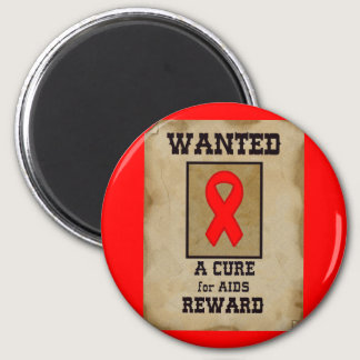 Wanted: A Cure for AIDS Magnet