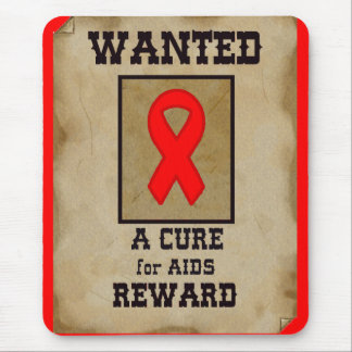 Wanted: A Cure for AIDS Mouse Pad