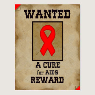 Wanted: A Cure for AIDS Postcard