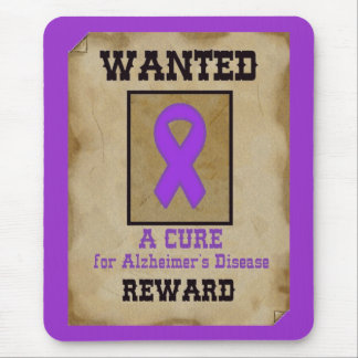 Wanted: A Cure for Alzheimer's Disease Mouse Pad
