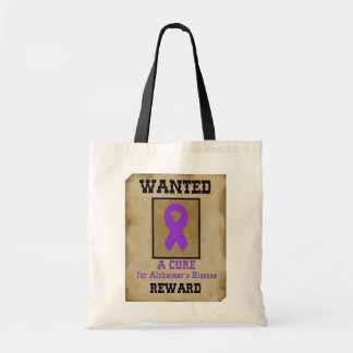 Wanted: A Cure for Alzheimer's Disease Tote Bag