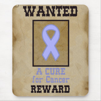 Wanted: A Cure for Cancer - Lavender Ribbon Mouse Pad