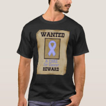 Wanted: A Cure for Cancer - Lavender Ribbon T-Shirt