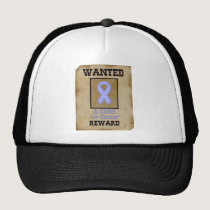 Wanted: A Cure for Cancer - Lavender Ribbon Trucker Hat