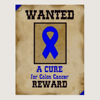 Wanted: A Cure for Colon Cancer Postcard