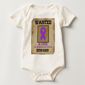 Wanted: A Cure for Crohn's & Colitis Baby Bodysuit