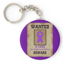 Wanted: A Cure for Crohn's & Colitis Keychain