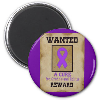 Wanted: A Cure for Crohn's & Colitis Refrigerator Magnet