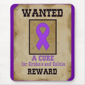 Wanted: A Cure for Crohn's & Colitis Mouse Pad