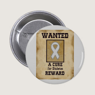 Wanted: A Cure for Diabetes Button